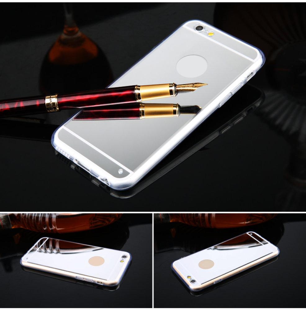 luxus iphone 6 silikon spiegel cover case schutz handy. Black Bedroom Furniture Sets. Home Design Ideas