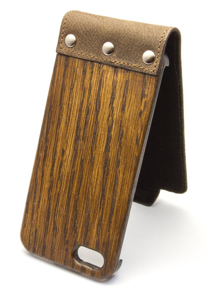 luxus iphone 6 6s holz h lle flip case handy tasche schutz. Black Bedroom Furniture Sets. Home Design Ideas